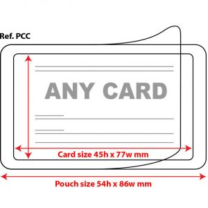 Self Seal Credit Card Pouch