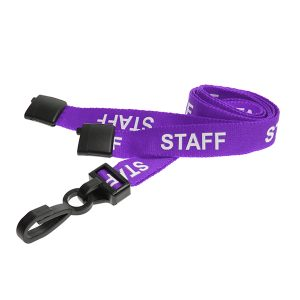 Purple Staff Lanyard
