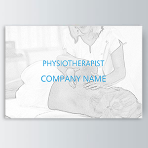 physiotherapist Appointment Cards