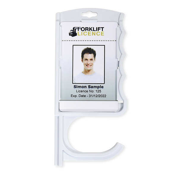 Antimicrobial Door Opening Card Holder